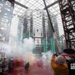 台北市大巨蛋上樑 遠雄企業趙藤雄豪語2016完工